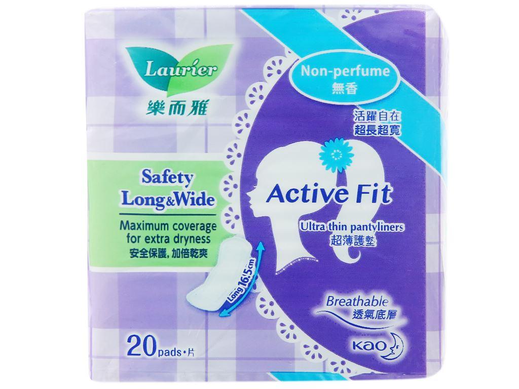 Băng vệ sinh hàng ngày Laurier Active Fit siêu thấm 20 miếng 6