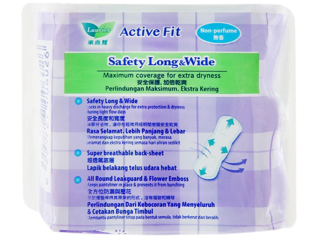 Băng vệ sinh hàng ngày Laurier Active Fit siêu thấm 20 miếng 7