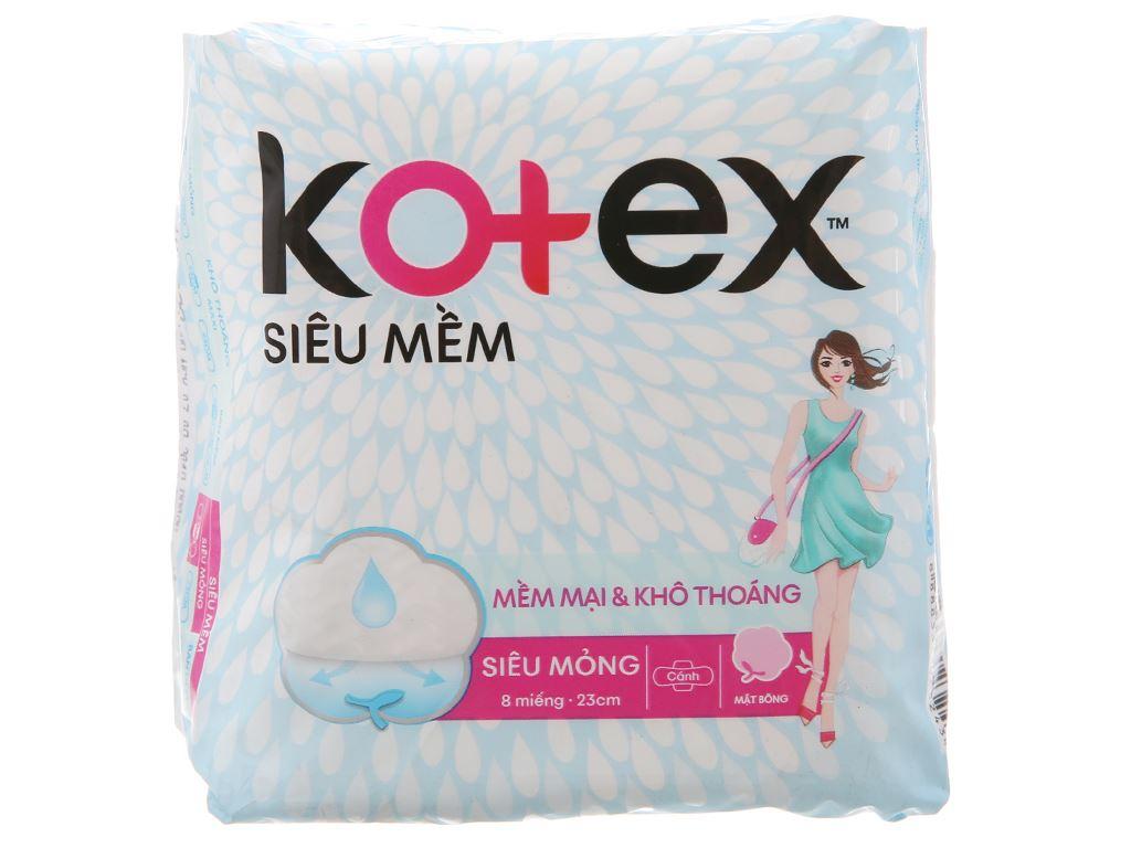Băng vệ sinh Kotex siêu mềm siêu mỏng cánh 8 miếng 2