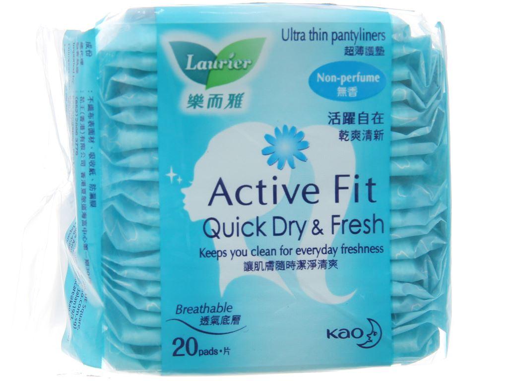 Băng vệ sinh hàng ngày Laurier Active Fit mềm mịn khô thoáng 20 miếng 2