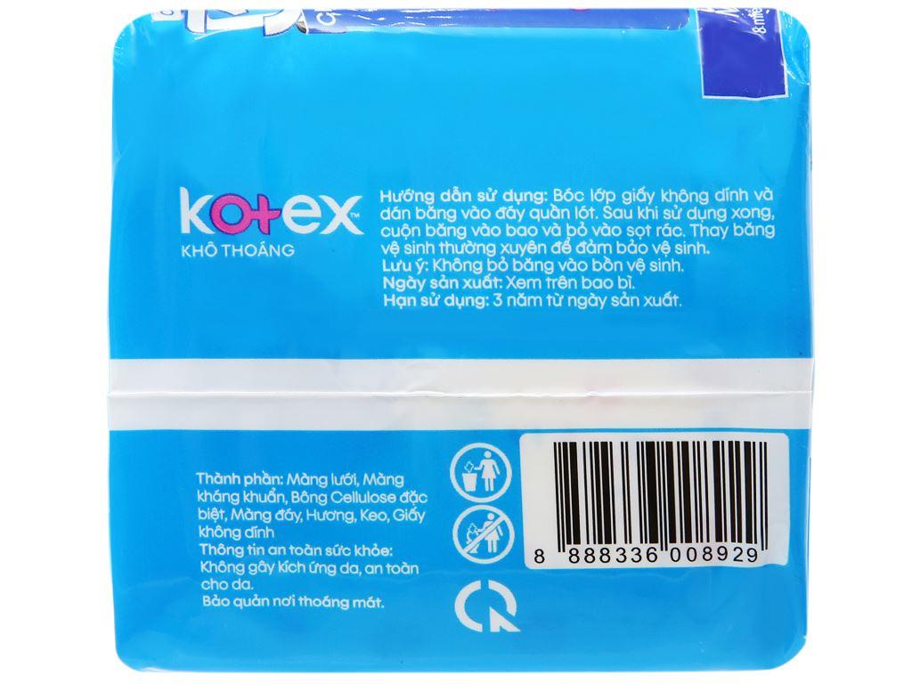Băng vệ sinh Kotex khô thoáng Maxi cánh 8 miếng 8