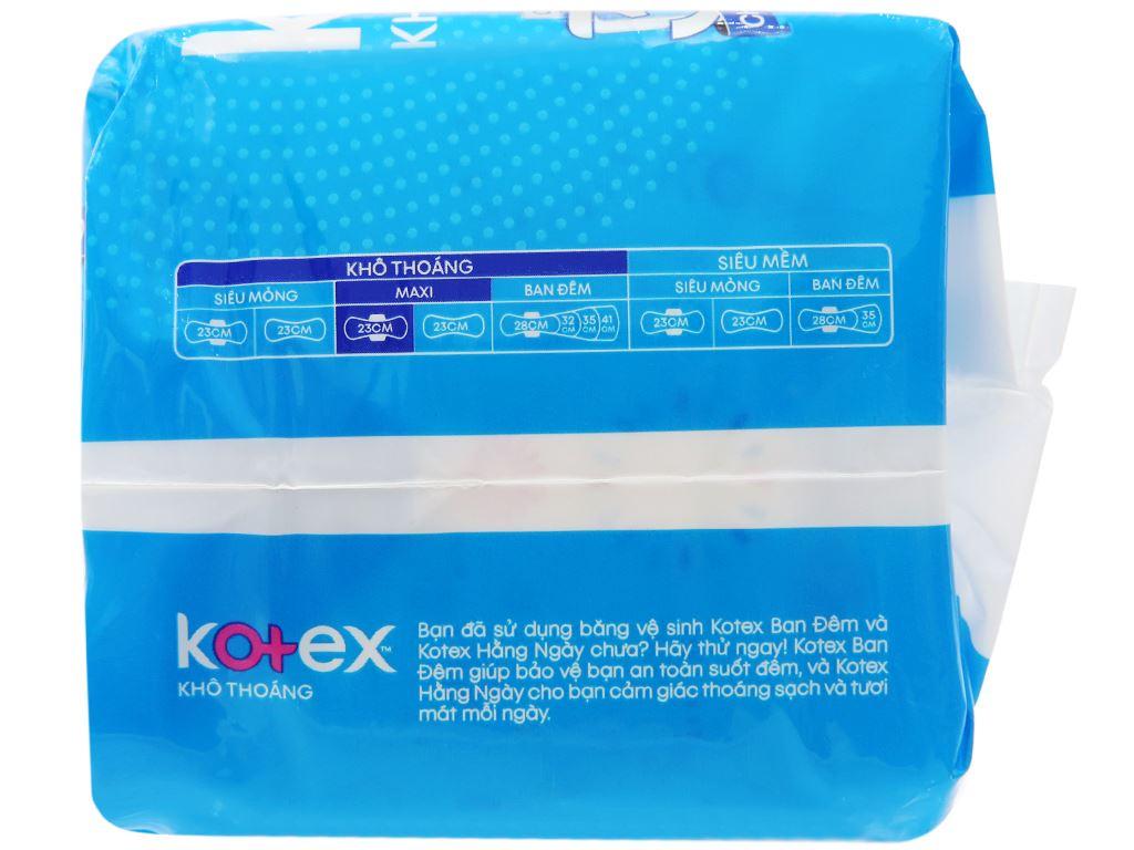 Băng vệ sinh Kotex khô thoáng Maxi cánh 8 miếng 9