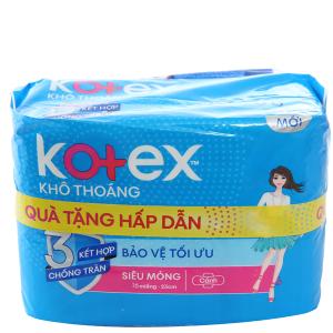 Băng vệ sinh Kotex khô thoáng siêu mỏng có cánh 16 miếng