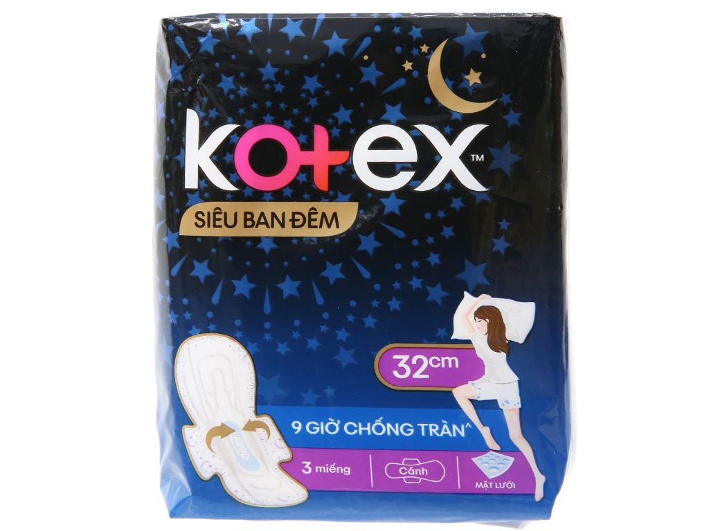 Băng vệ sinh ban đêm Kotex Style khô thoáng siêu mỏng 3 miếng 32cm 5