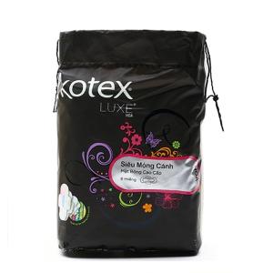 Băng vệ sinh ban đêm Kotex Luxe siêu mỏng có cánh 8 miếng