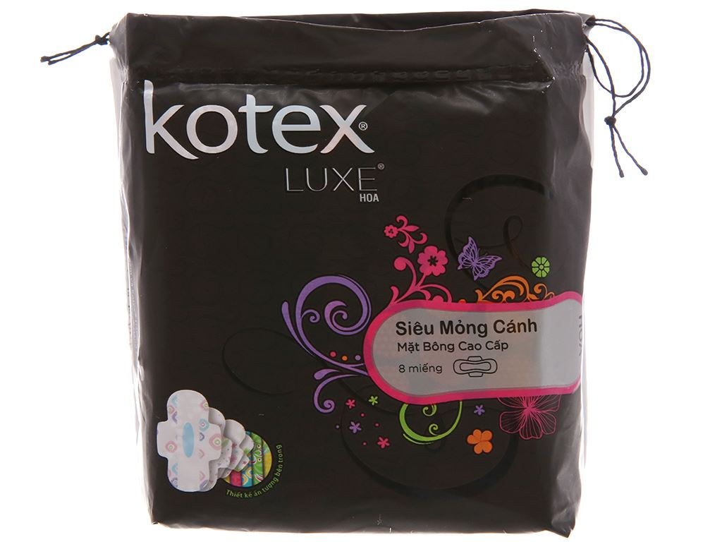 Băng vệ sinh Kotex Luxe siêu mỏng cánh 8 miếng 1