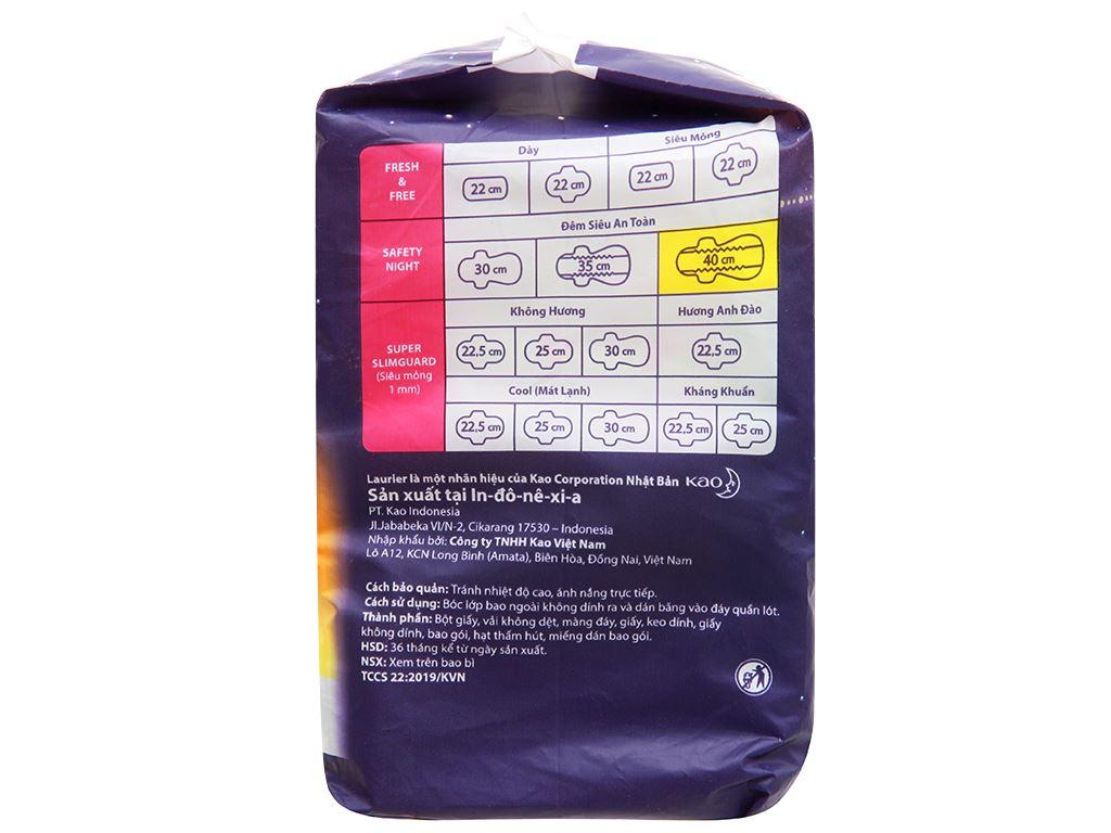 Băng vệ sinh ban đêm Laurier Safety Night siêu an toàn 8 miếng 40cm 6