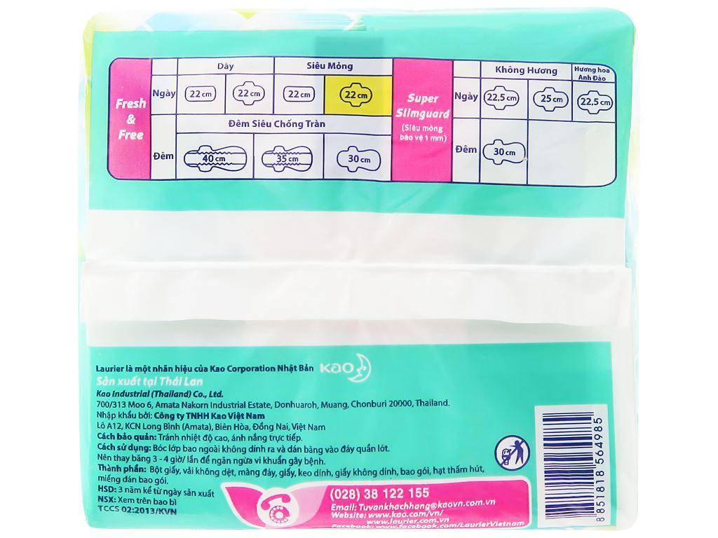Băng vệ sinh Laurier Fresh and Free siêu thấm siêu mỏng cánh 20 miếng 7