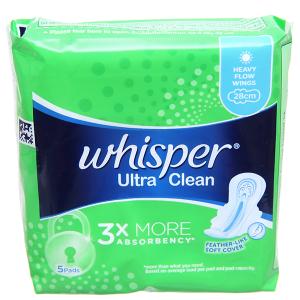 Băng vệ sinh Whisper Ultra Clean có cánh 5 miếng