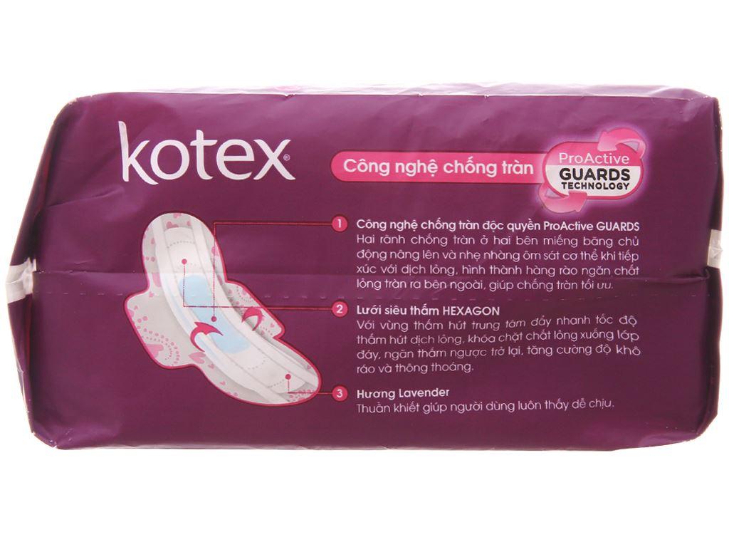 Băng vệ sinh Kotex Pro siêu mỏng cánh 20 miếng 3