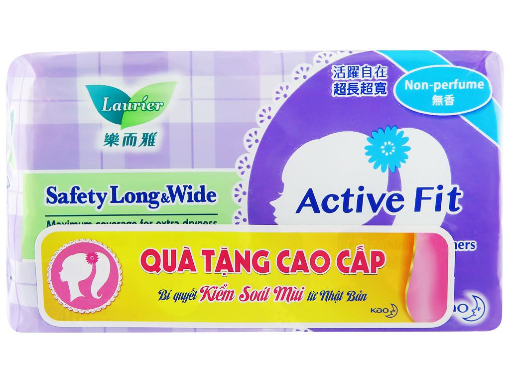 Băng vệ sinh hàng ngày Laurier Active Fit siêu thấm 40 miếng 8