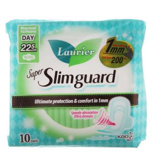 Băng vệ sinh Laurier Super Slimguard siêu siêu mỏng có cánh 10 miếng