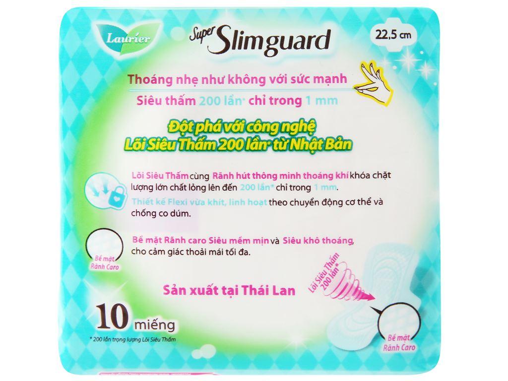 Băng vệ sinh Laurier Super Slimguard siêu siêu mỏng có cánh 10 miếng 7