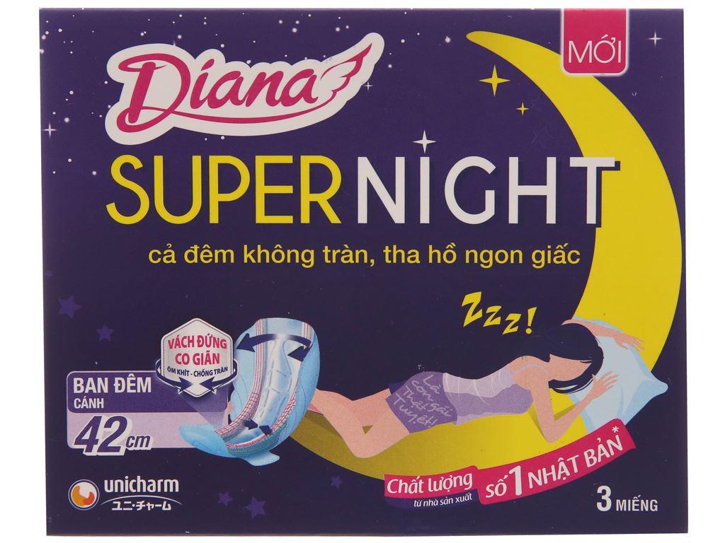 Ban đêm Diana Super Night chống tràn 3 miếng 42cm 1