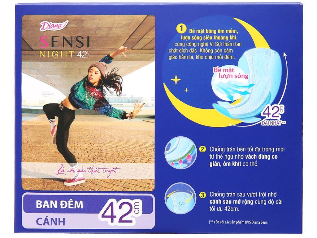 Băng vệ sinh ban đêm Diana Sensi 3 miếng 42cm 7