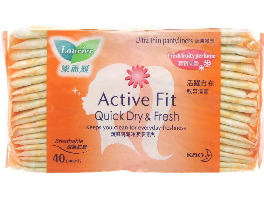 Băng vệ sinh hằng ngày Laurier Active Fit mềm mịn khô thoáng hương trái cây 40 miếng 2