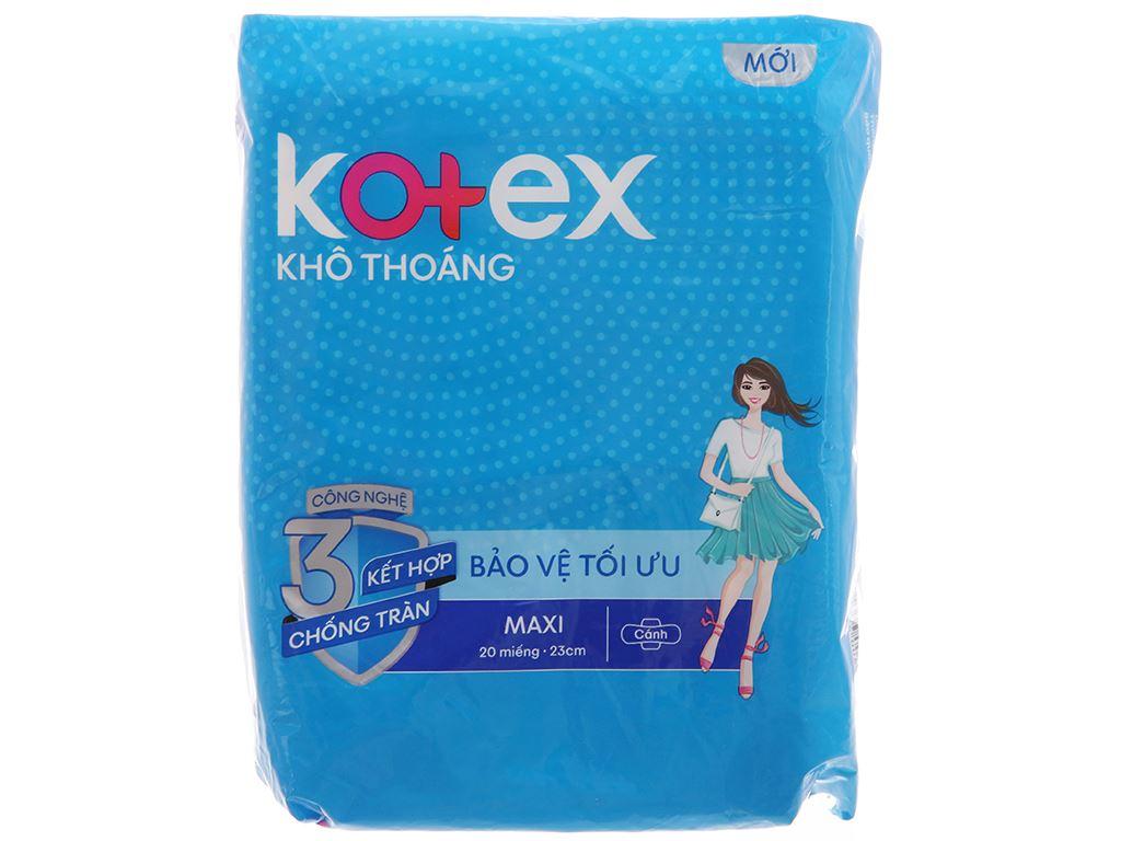 Băng vệ sinh Kotex khô thoáng Maxi cánh 20 miếng 1