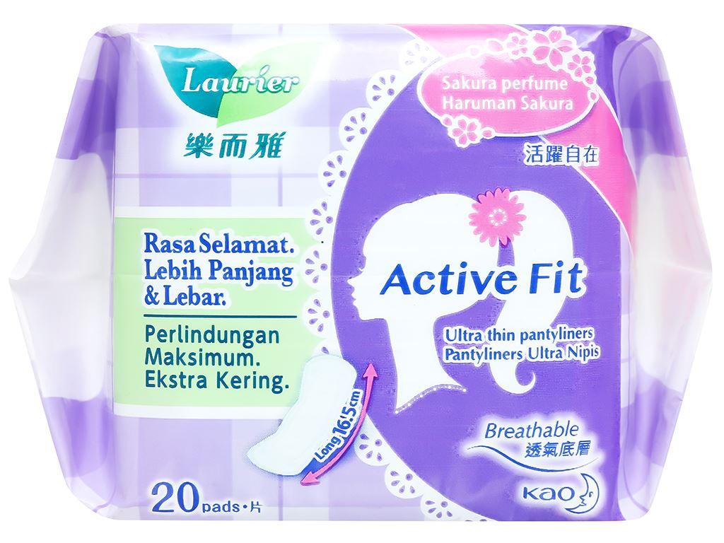 Băng vệ sinh hàng ngày Laurier Active Fit siêu thấm có hương 20 miếng 13