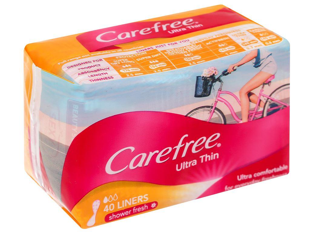 Băng vệ sinh hàng ngày Carefree siêu mỏng 40 miếng 12