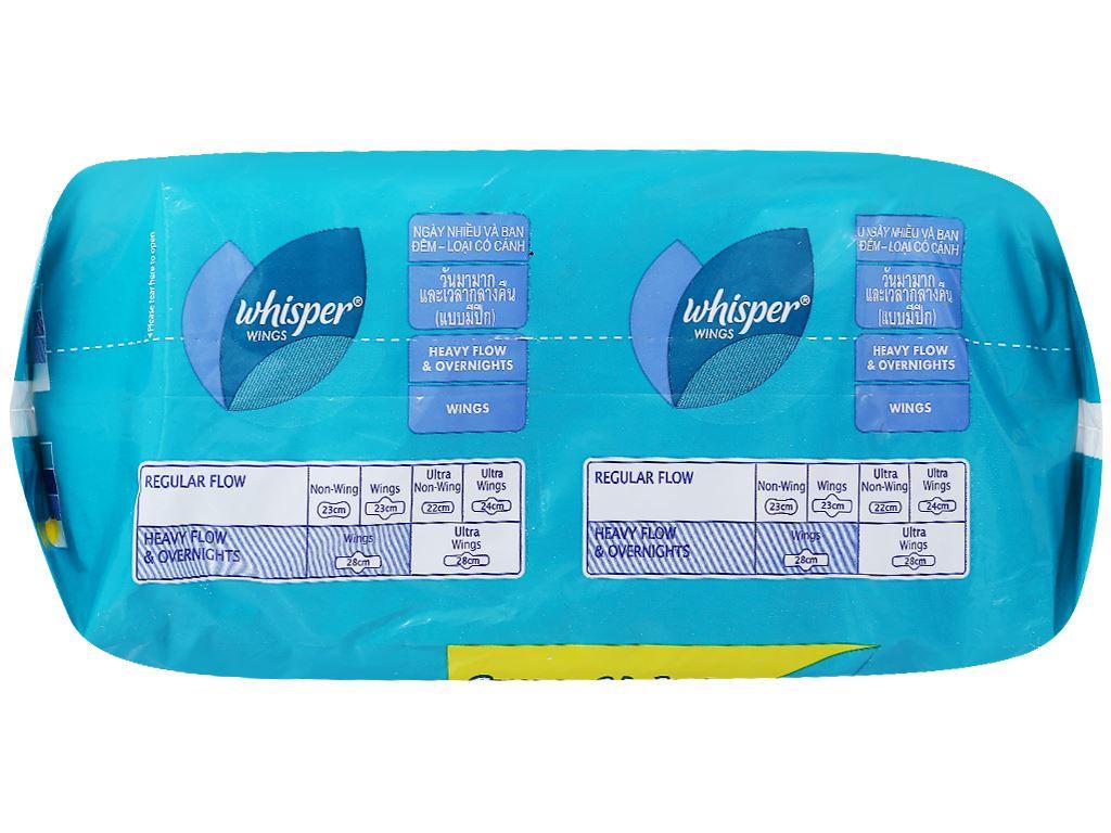 Băng vệ sinh ban đêm Whisper Super Value Pack có cánh 32 miếng 3