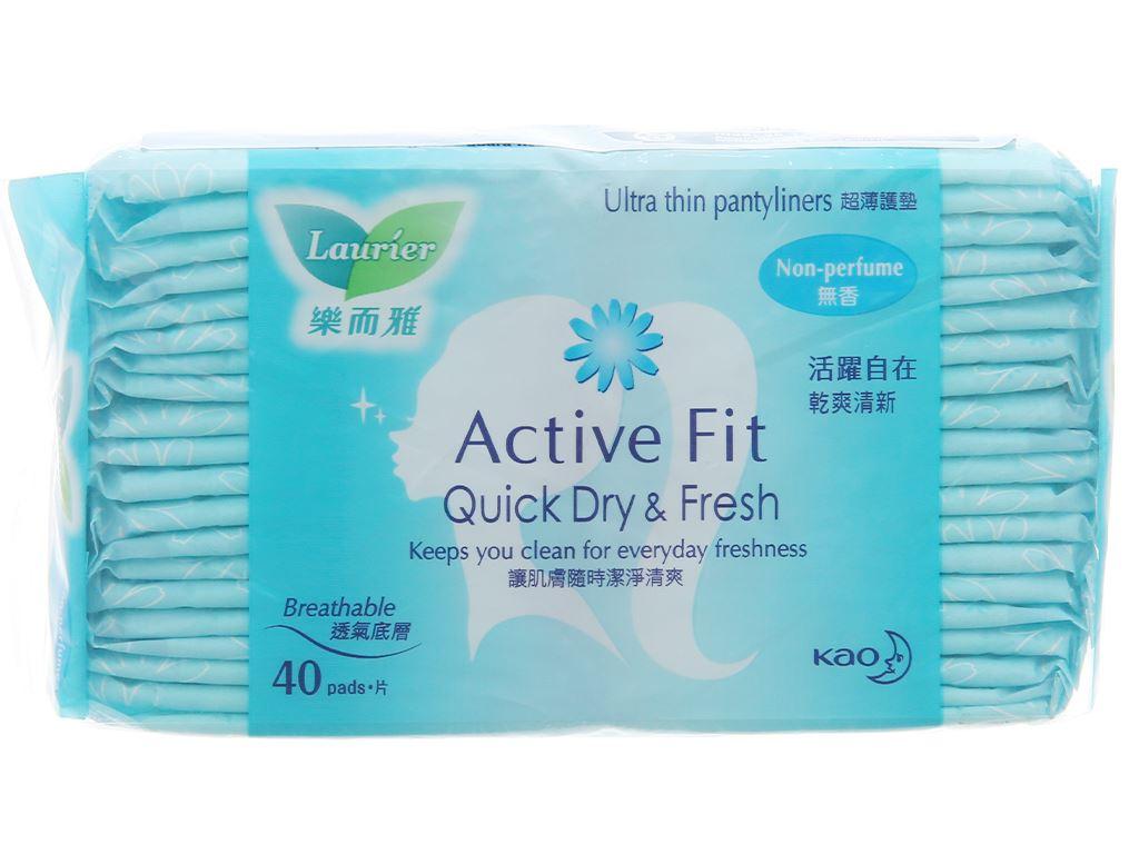Băng vệ sinh hàng ngày Laurier Active Fit mềm mịn khô thoáng 40 miếng 2