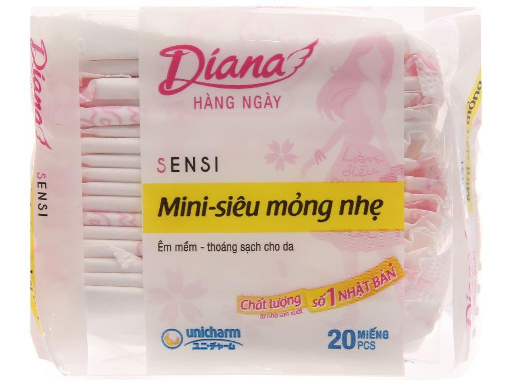 Băng vệ sinh hàng ngày Diana Sensi Mini mỏng nhẹ 20 miếng 1