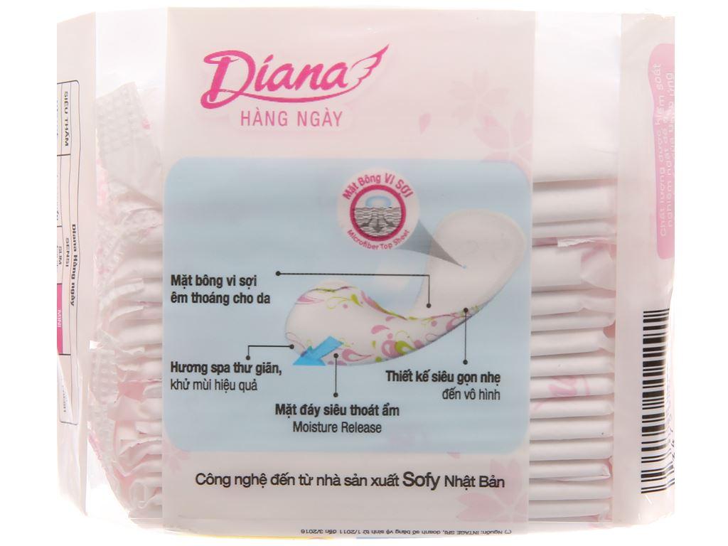 Băng vệ sinh hàng ngày Diana Sensi Mini mỏng nhẹ 20 miếng 2