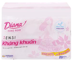 Băng vệ sinh hàng ngày Diana Sensi kháng khuẩn 20 miếng