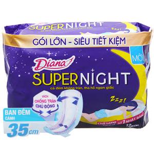 Băng vệ sinh ban đêm Diana Super Night 12 miếng 35cm