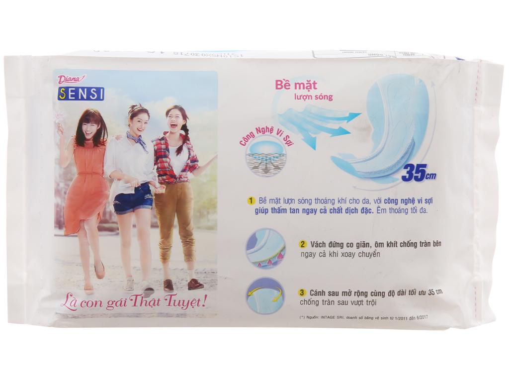 Băng vệ sinh ban đêm Diana Sensi 3 miếng 35cm 3