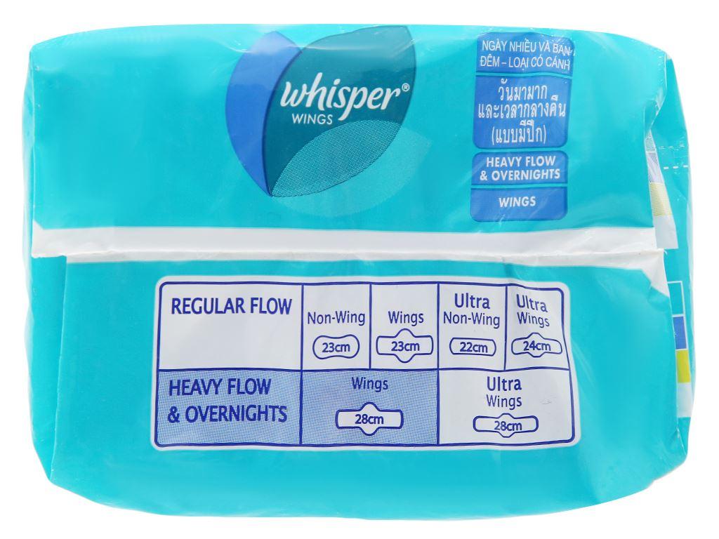 Băng vệ sinh ngày và đêm Whisper siêu bảo vệ 8 miếng 7