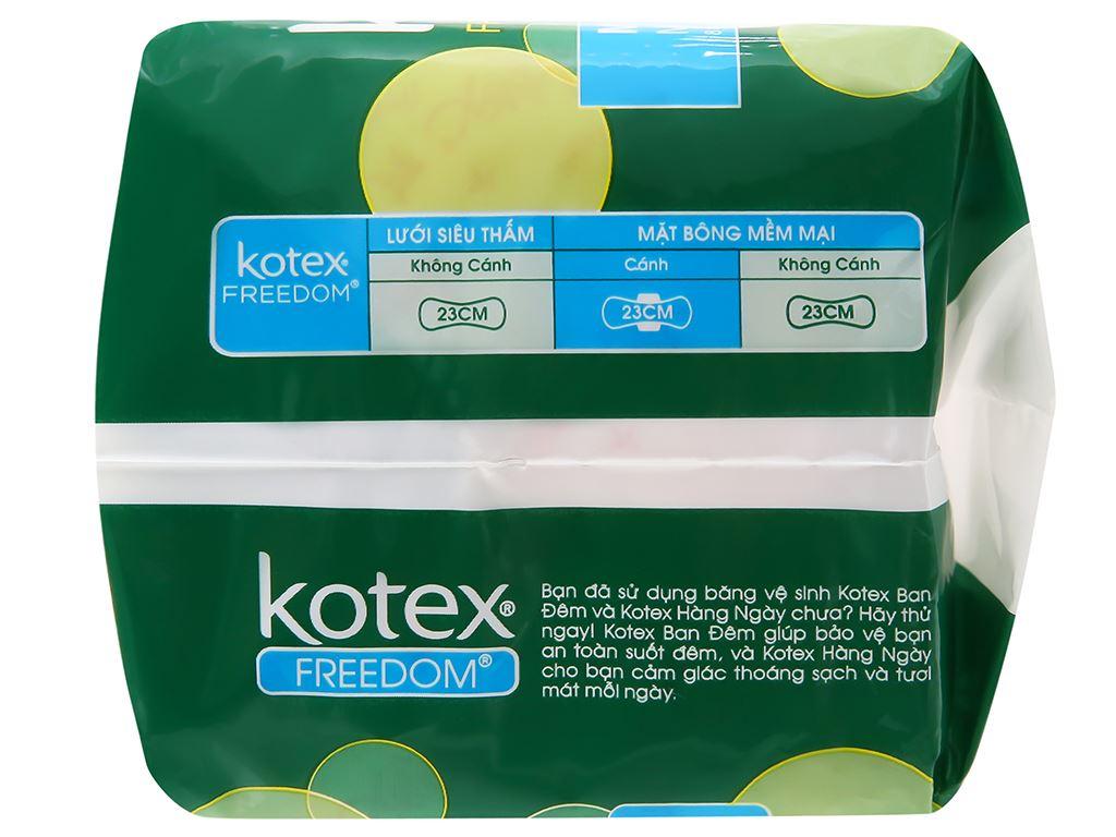 Băng vệ sinh Kotex Freedom chống tràn có cánh 8 miếng 9
