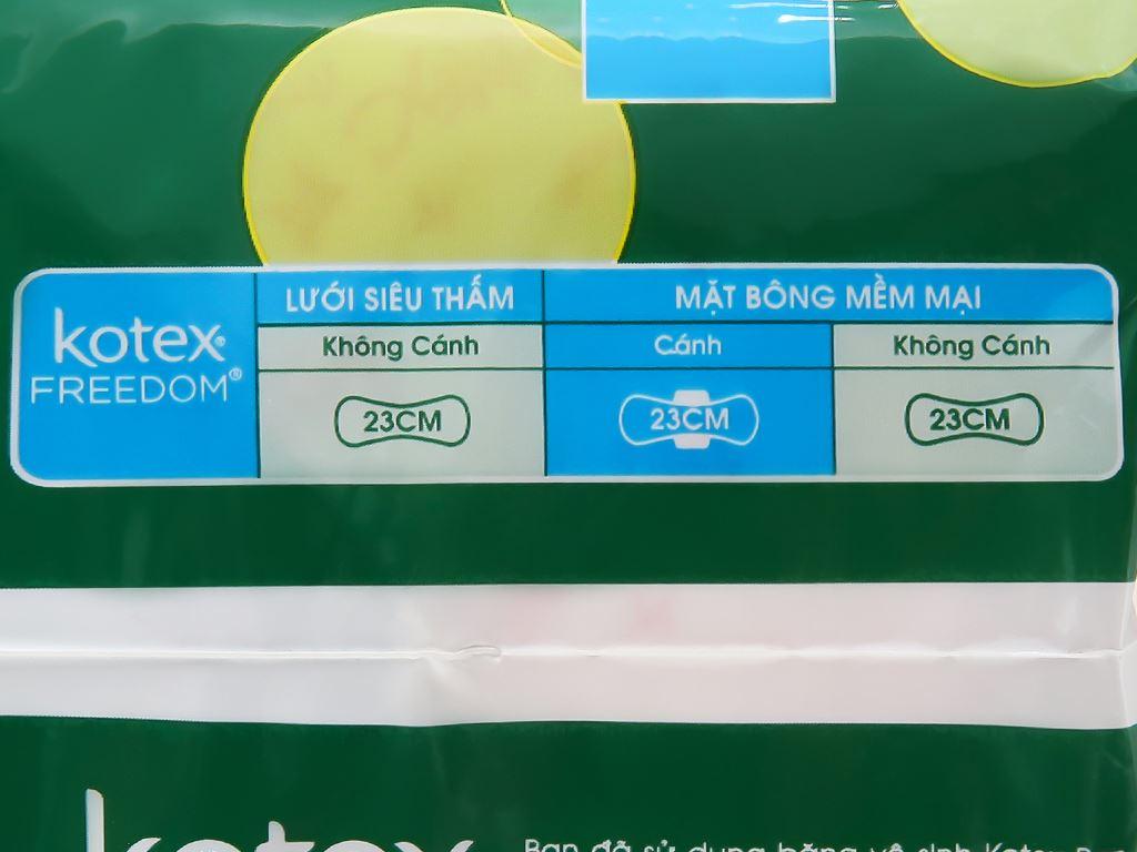 Băng vệ sinh Kotex Freedom chống tràn có cánh 8 miếng 12