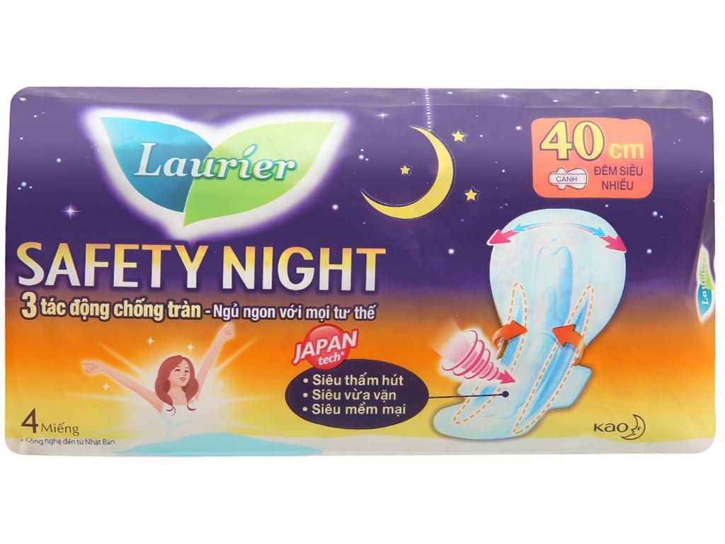 Băng vệ sinh ban đêm Laurier Safety Night siêu an toàn 4 miếng 40cm 11