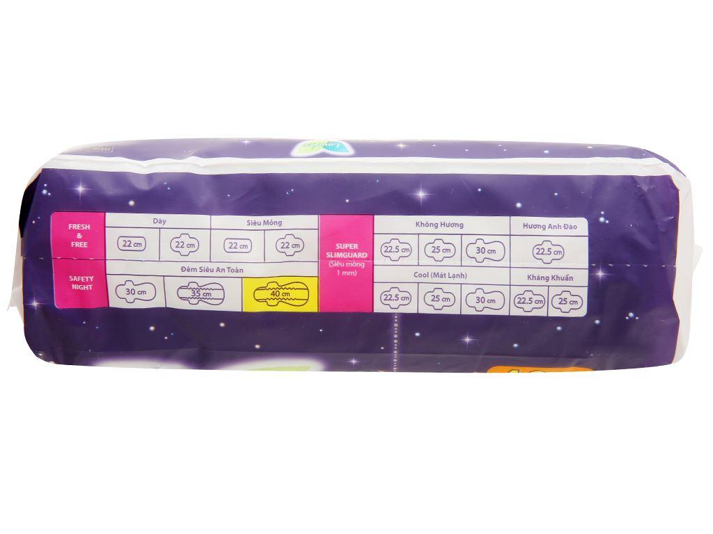 Băng vệ sinh ban đêm Laurier Safety Night siêu an toàn 4 miếng 40cm 13