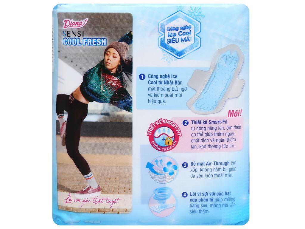 Băng vệ sinh Diana Sensi Cool Fresh siêu mỏng cánh 8 miếng 7
