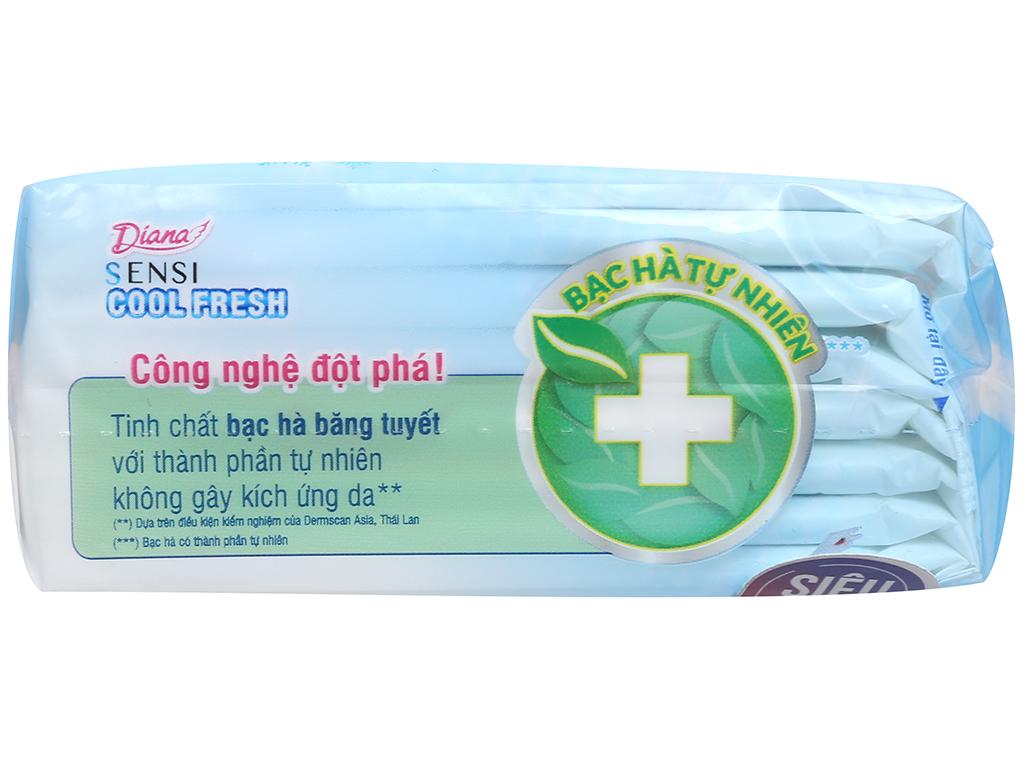 Băng vệ sinh Diana Sensi Cool Fresh siêu mỏng cánh 8 miếng 9
