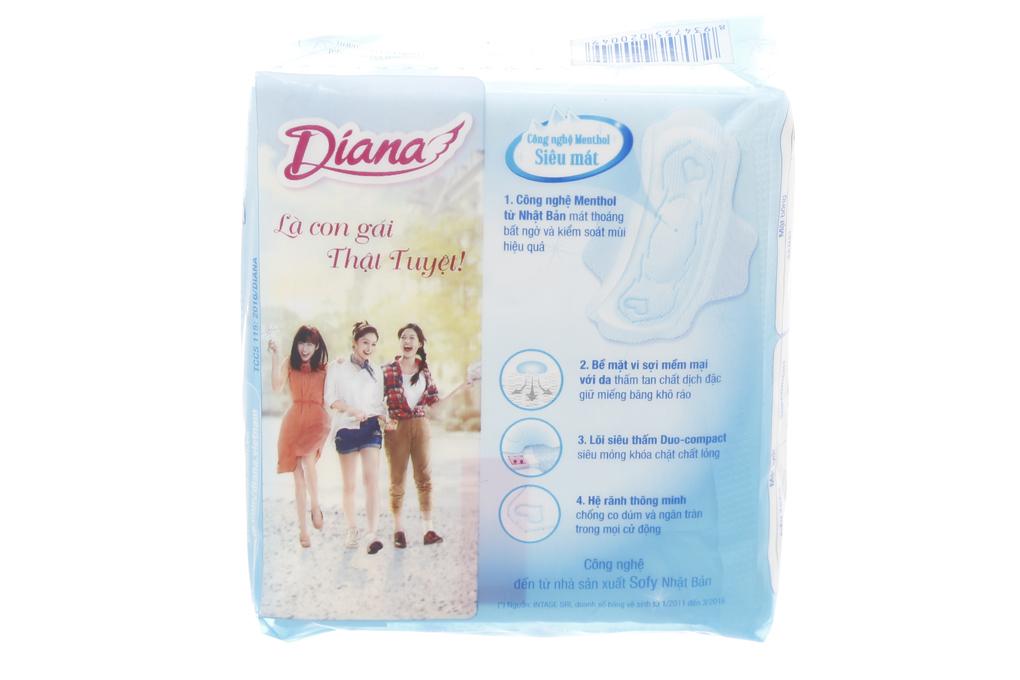BVS Diana Sensi Cool Fresh siêu mỏng cánh 8 miếng