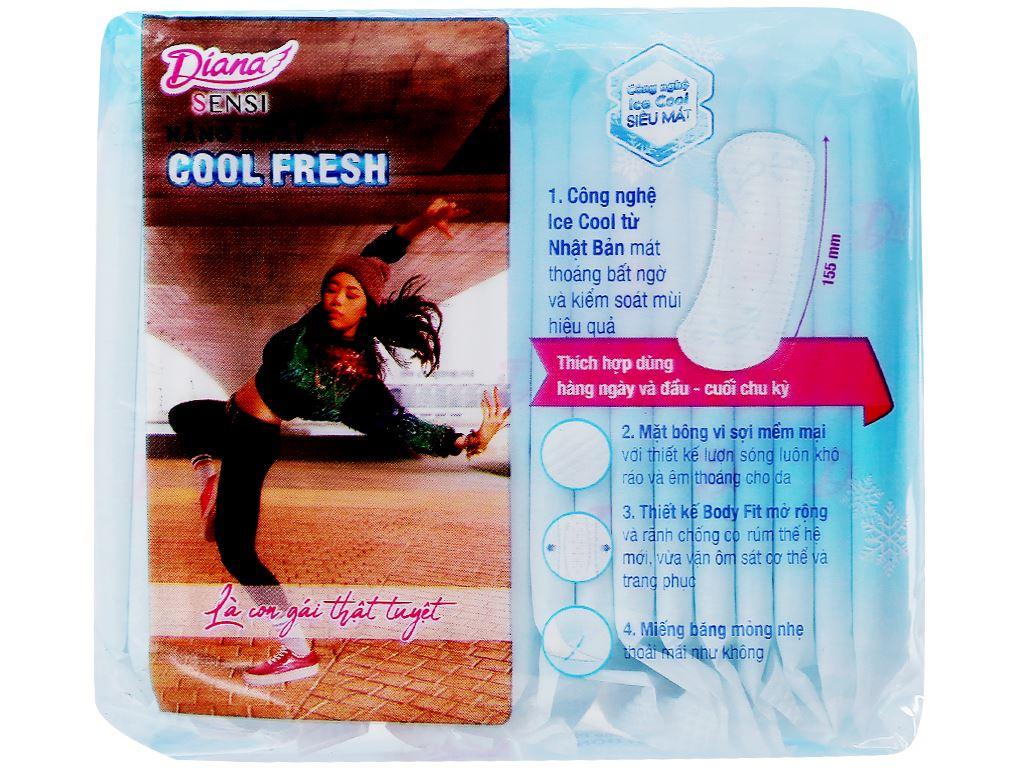 Băng vệ sinh hàng ngày Diana Sensi Cool Fresh 20 miếng 2