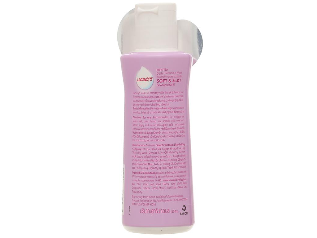 Dung dịch vệ sinh Lactacyd Soft & Silky dưỡng ẩm 150ml 2