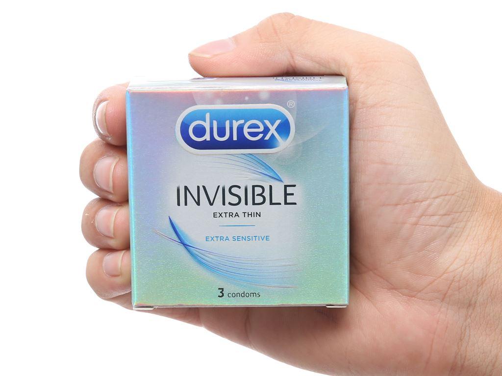 Hộp 3 cái bao cao su Durex Invisible 52mm 4