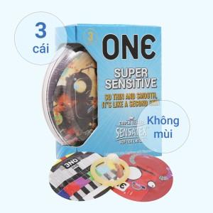 Hộp 3 cái bao cao su One Supper Sensitive 53mm