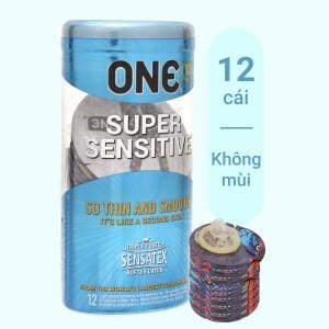 Hộp 12 cái bao cao su One Supper Sensitive 53mm