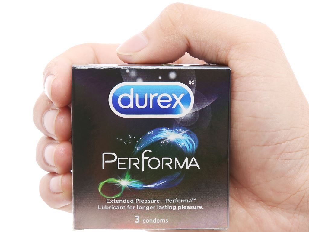 Hộp 3 cái bao cao su Durex Performa kéo dài thời gian 52mm 4