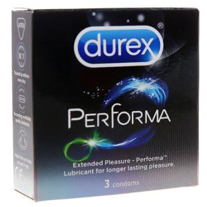 Hộp 3 cái bao cao su Durex Performa kéo dài thời gian 52mm