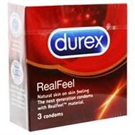 Bao cao su Durex RealFeel Cho cảm giác thật 56mm (3 cái)