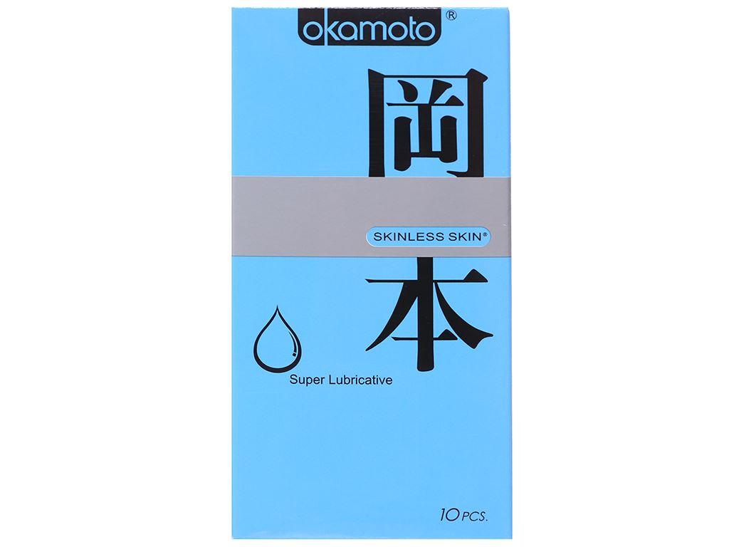 Hộp 10 cái bao cao su Okamoto Skinless Skin 53mm 1