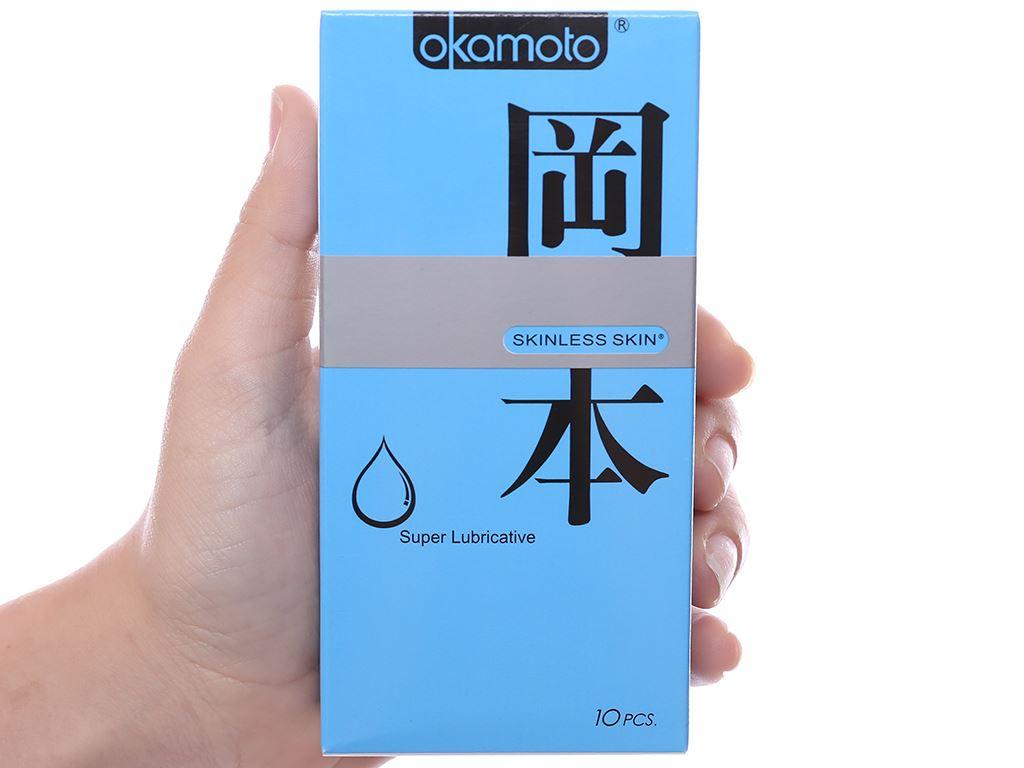Hộp 10 cái bao cao su Okamoto Skinless Skin 53mm 4