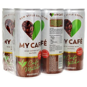 Cà phê Matcha My Cafe lon 235ml (Lốc 6 lon)