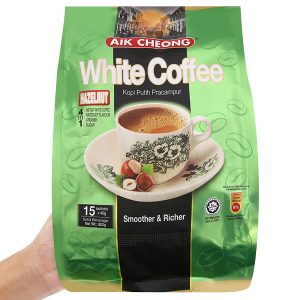 Cà phê sữa Aik Cheong White Coffee 4 trong 1 Hazelnut 600g